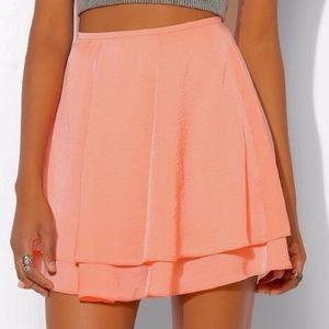 SILENCE + NOISE peach skirt